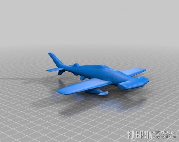 HH-7P攻击机 3D模型  图2