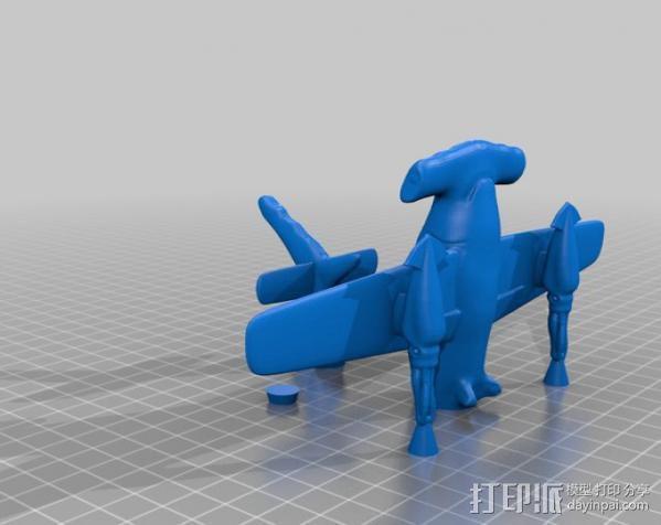 HH-7P攻击机 3D模型  图3