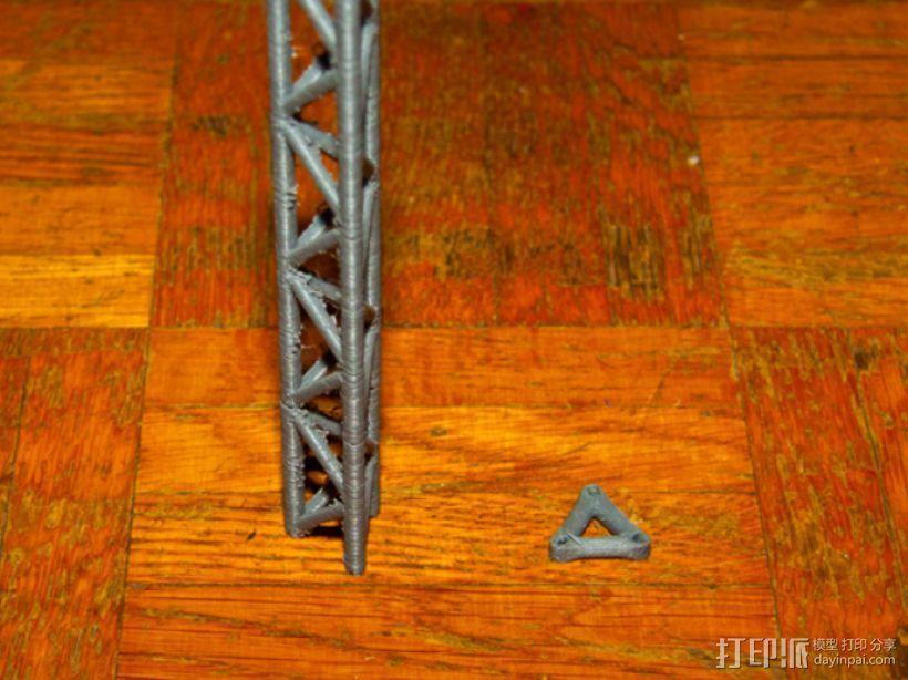桥桁架 3D模型  图1
