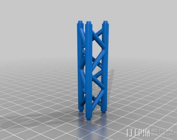 桥桁架 3D模型  图2