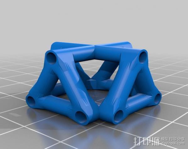 桥桁架 3D模型  图4