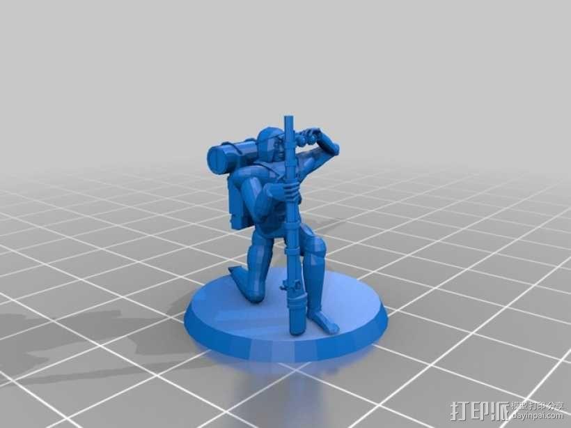 猎人模型 3D模型  图1