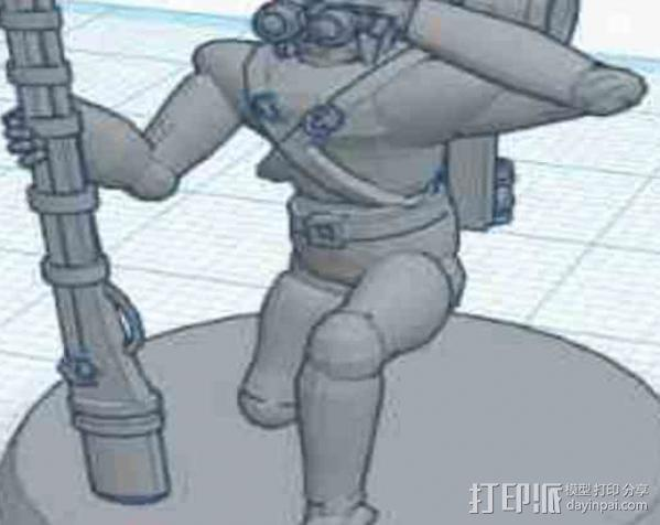 猎人模型 3D模型  图4