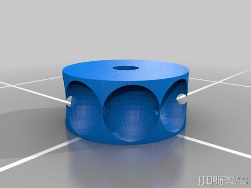 齿轮套筒链  3D模型  图3