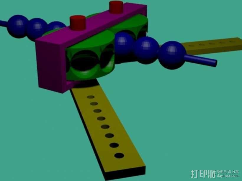 齿轮套筒链  3D模型  图2