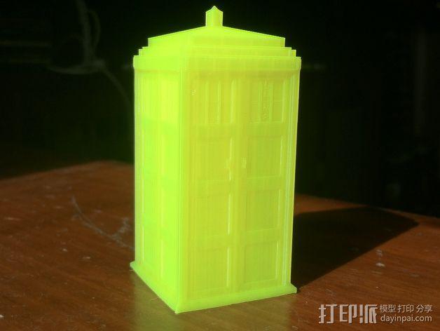 神秘博士警察亭 3D模型  图2