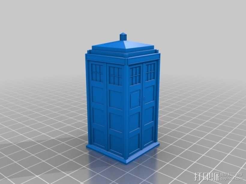 神秘博士警察亭 3D模型  图1