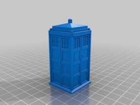 神秘博士警察亭 3D模型