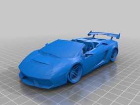 兰博基尼Gallardo车模型 3D模型