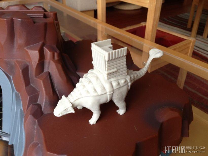 甲龙 恐龙 3D模型  图1