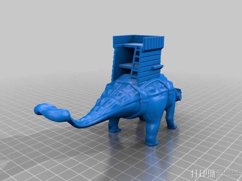 甲龙 恐龙 3D模型  图3