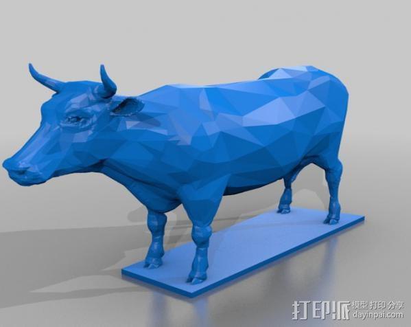 奶牛  3D模型  图2
