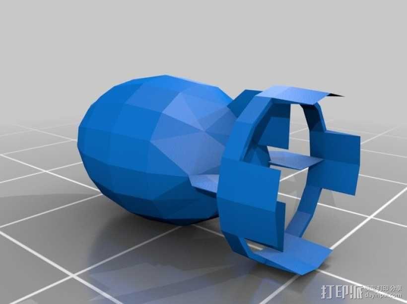 新维加斯炸弹 3D模型  图1