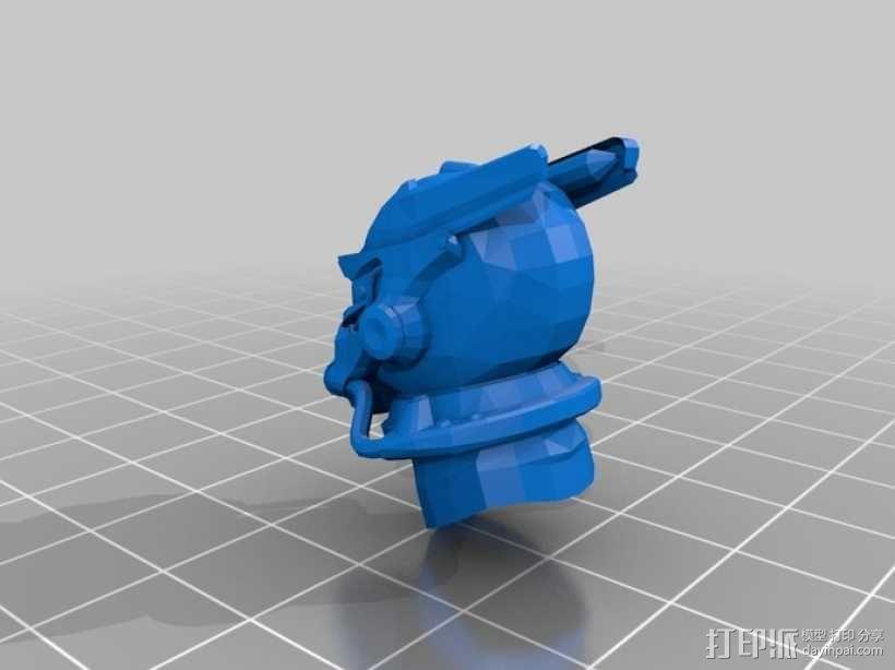 英雷克动力头盔 3D模型  图1