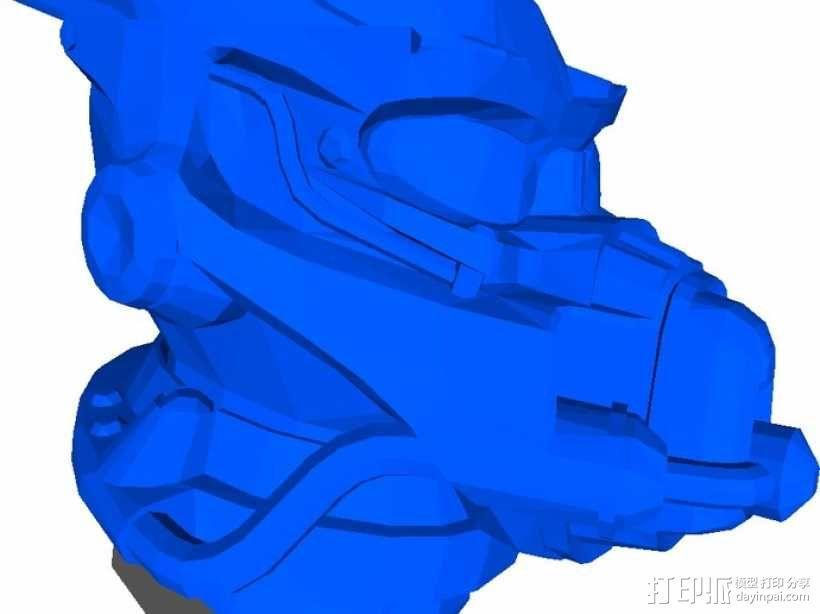 英雷克动力头盔 3D模型  图2