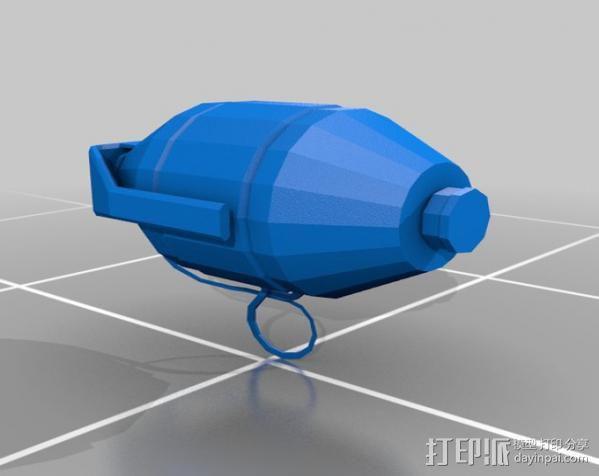 新维加斯手榴弹 3D模型  图1