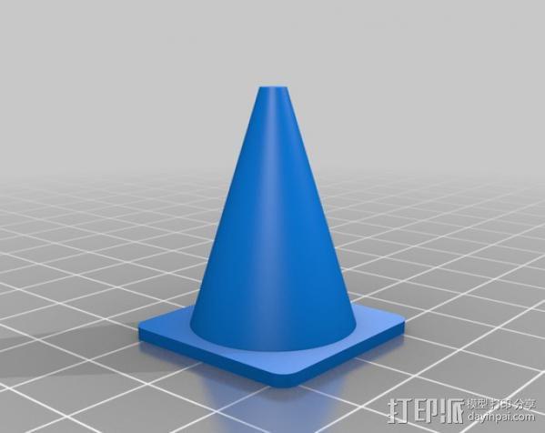 路障 3D模型  图2
