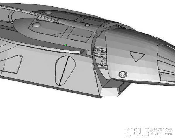 飞萤航空飞机 3D模型  图2