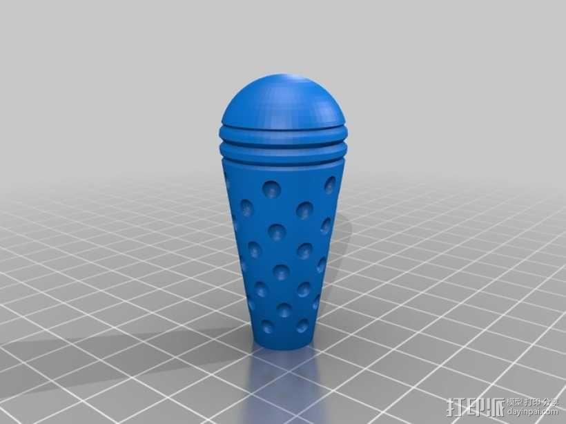 蒸汽朋克旋转阀 旋钮 3D模型  图3