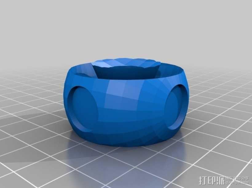 蒸汽朋克旋转阀 旋钮 3D模型  图4