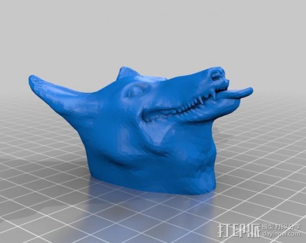吐舌的狗 3D模型  图2