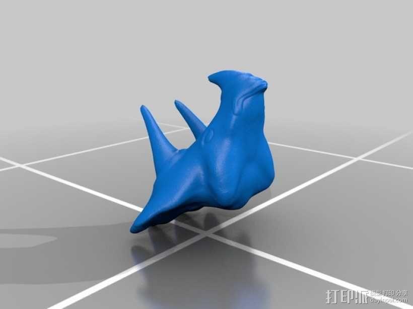 三角龙头部模型 3D模型  图3