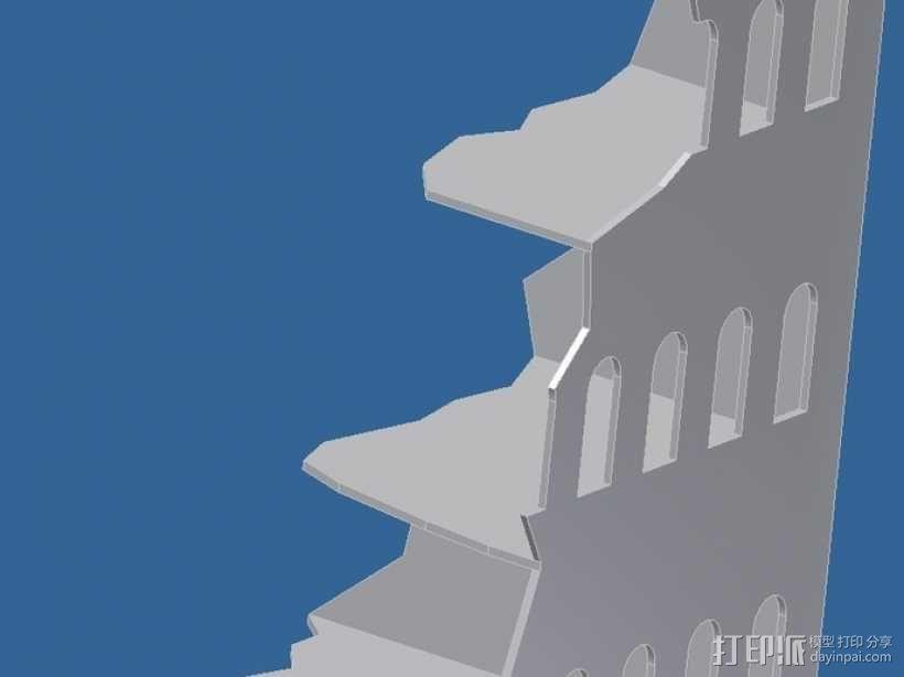 游戏废墟建筑 3D模型  图1