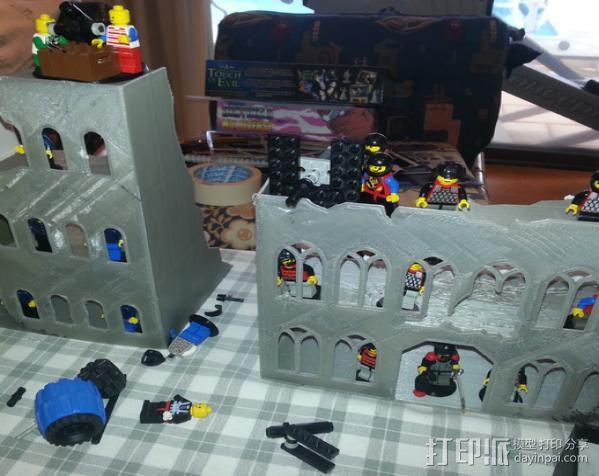 游戏废墟建筑 3D模型  图3