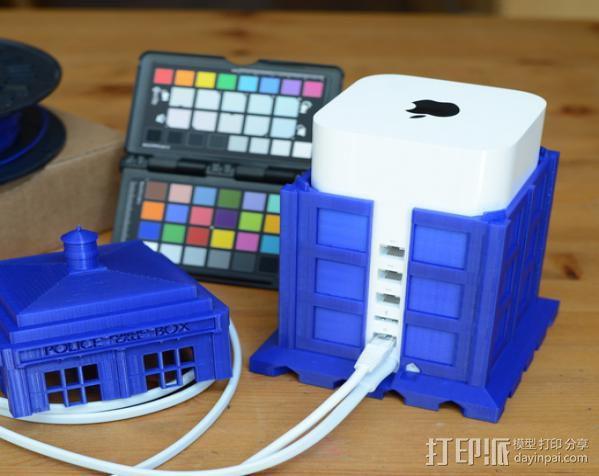 塔迪斯无线网络基站盒 3D模型  图6