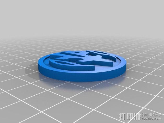 超级战队徽章标志 3D模型  图2