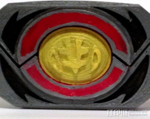 超级战队徽章标志 3D模型  图1
