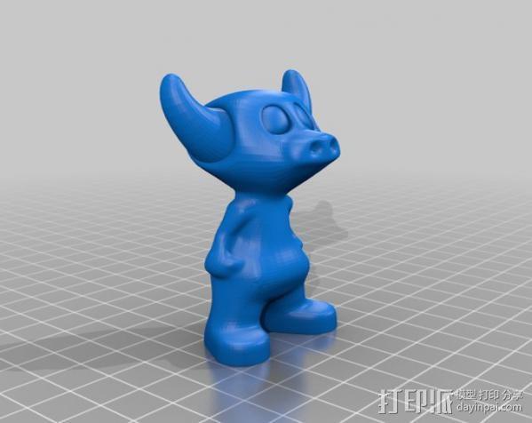 牛头怪小恐龙Manus 3D模型  图4