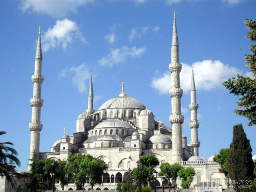 苏丹默哈默德清真寺 3D模型  图2