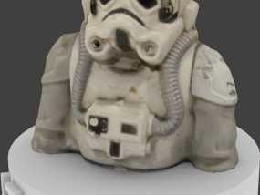 AT-AT帝国驾驶员半身像 3D模型