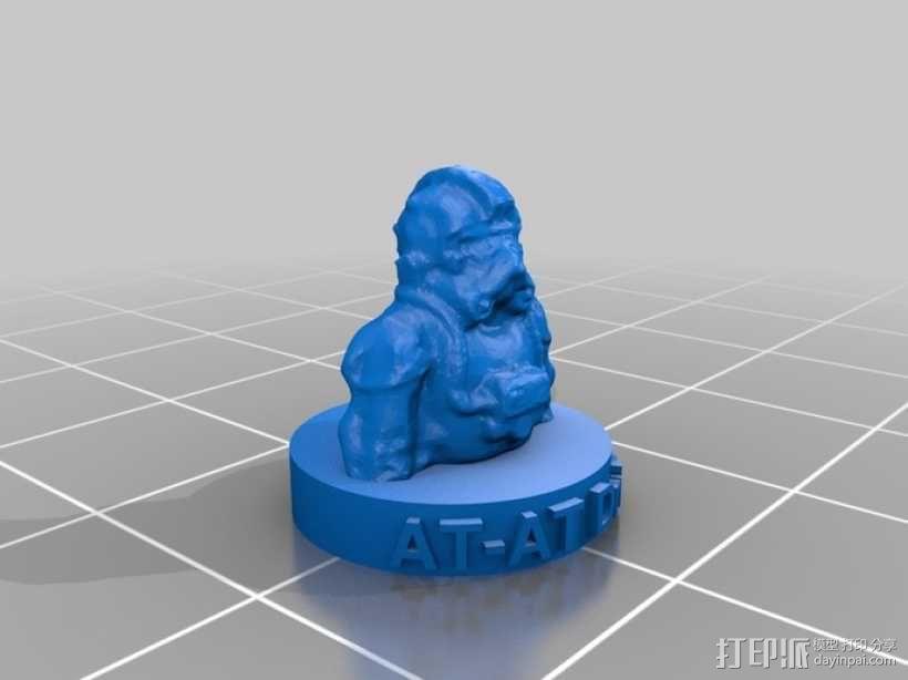 AT-AT帝国驾驶员半身像 3D模型  图2