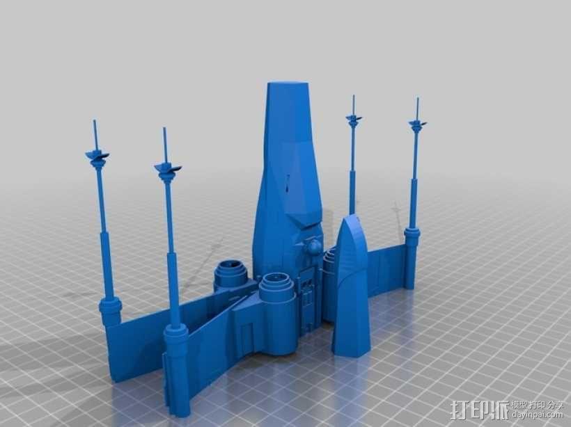X翼战斗机 3D模型  图3