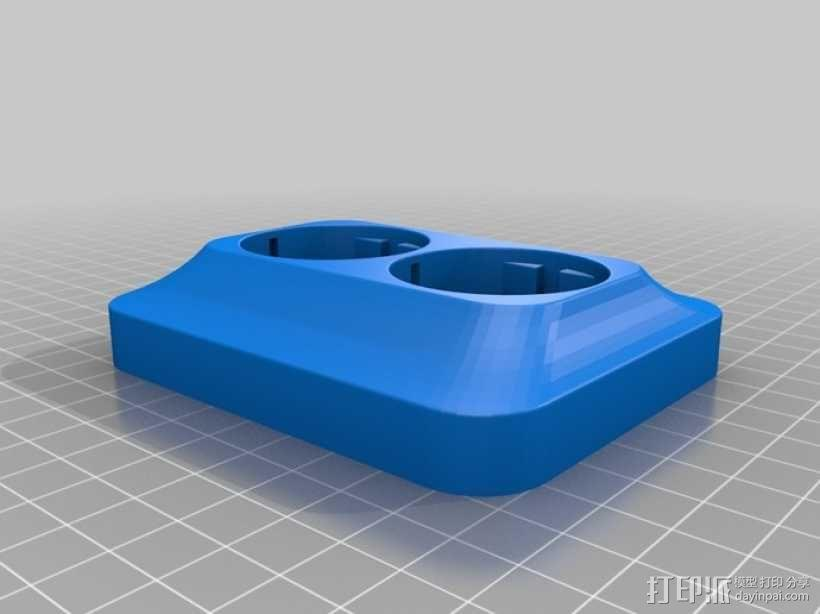CEE 7交流电源插座 3D模型  图2