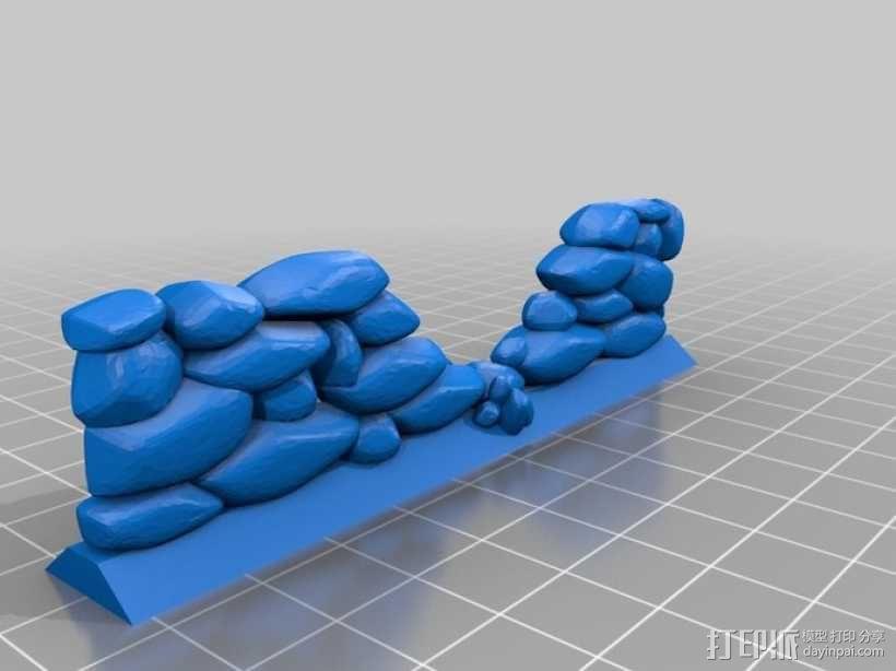 石墙 3D模型  图1
