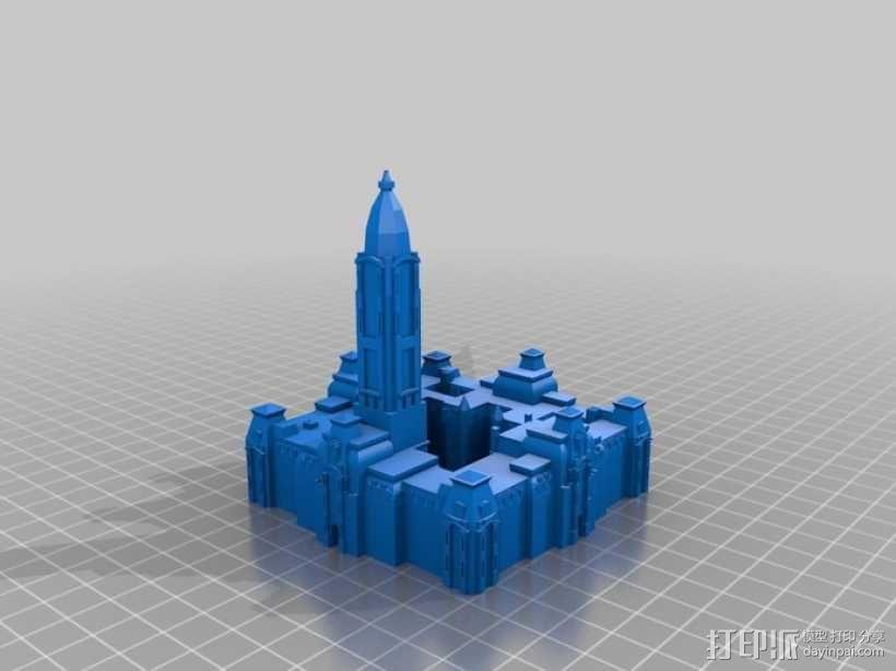 费城市政厅 3D模型  图1