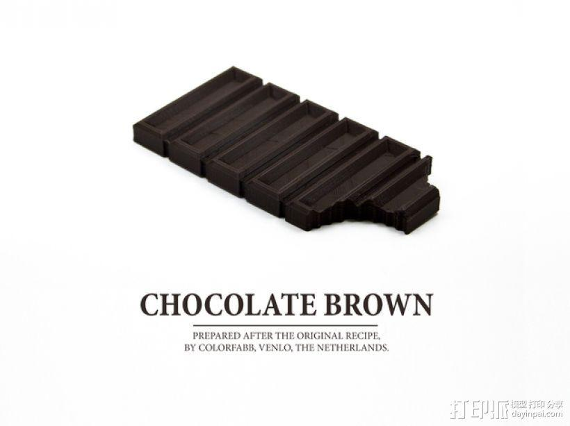 巧克力  3D模型  图1