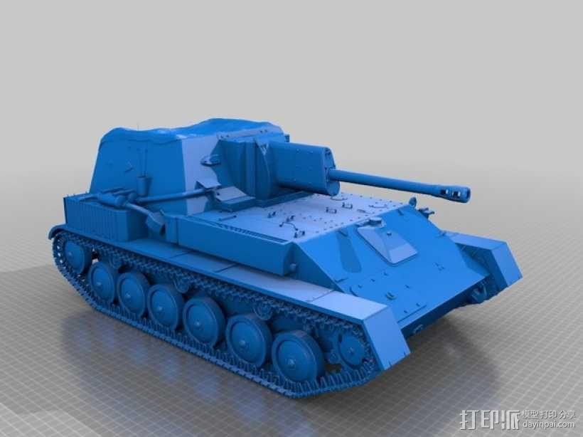 SU-76自行火炮坦克 3D模型  图1