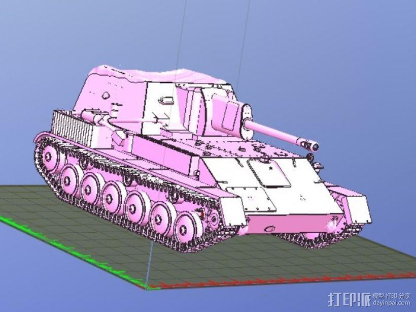 SU-76自行火炮坦克 3D模型  图2