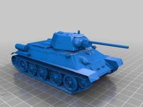 T-34坦克 3D模型