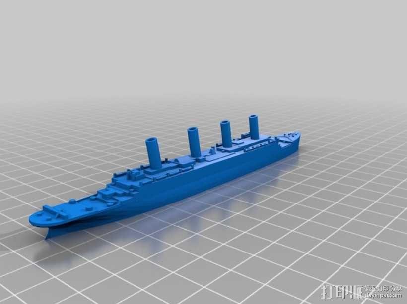 泰坦尼克号 3D模型  图1