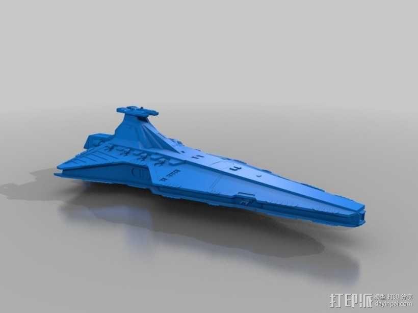 猎兵级歼星舰 3D模型  图1