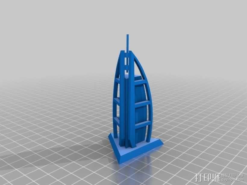 帆船酒店  3D模型  图2