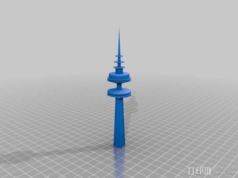 科威特塔 3D模型  图1