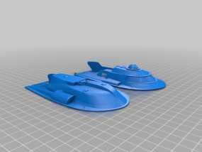 Proteus潜艇  3D模型
