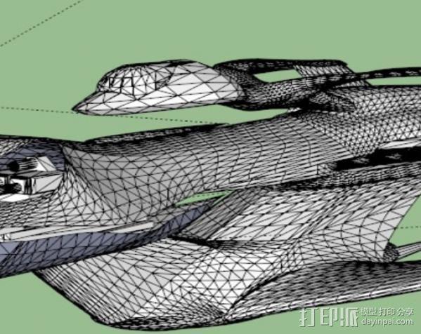 Whitestar战斗机 3D模型  图2