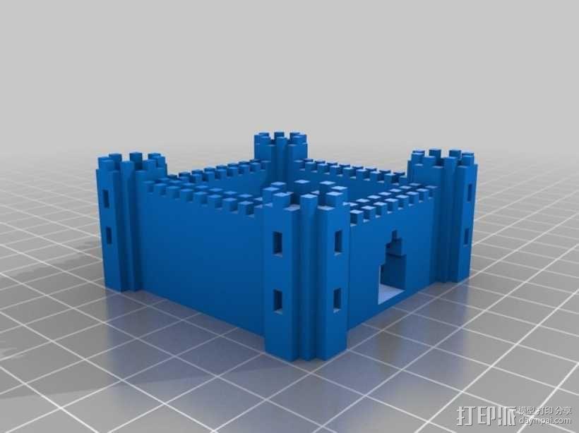 城堡 游戏建筑 3D模型  图1